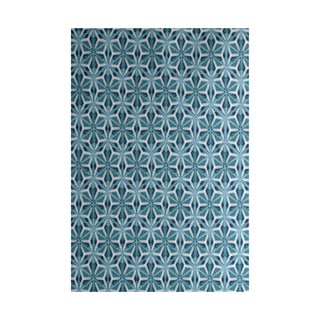 Water Mosaic Geometric Print Indoor, Outdoor Rug (4' x 6')
