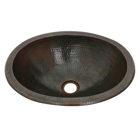Unikwities 16 X 12 X 5 inch Oval Undermount Bronzed Copper Sink