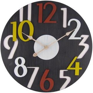 Infinity Instruments Chalkboard-finish 23.5-inch Round Clock