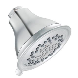 MOEN Envi 3-Spray 4 in. Eco-Performance Showerhead in Chrome/Brushed Chrome
