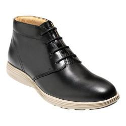 Men's Cole Haan Grand Tour Chukka Boot Black Leather/Cobblestone