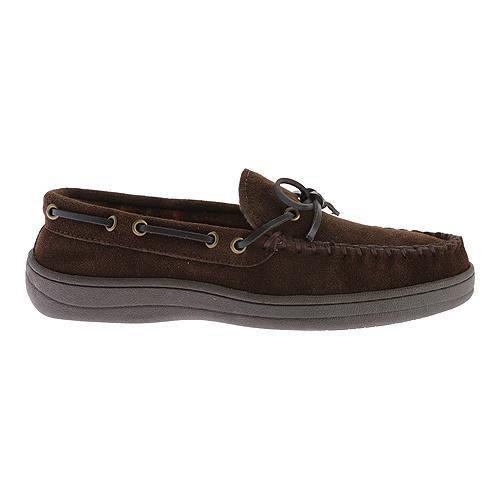 Men 39 S Florsheim Trapper Moccasin Slipper Brown Leather Free Shipping On Orders Over 45