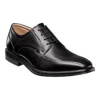 Men's Florsheim Heights Bike Toe Oxford Black Smooth Leather