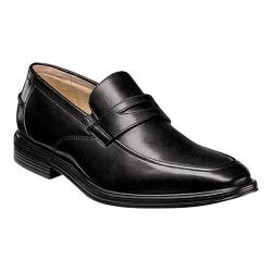 Men's Florsheim Heights Penny Slip On Black Smooth Leather