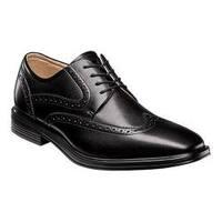 Men's Florsheim Heights Wingtip Oxford Black Smooth Leather