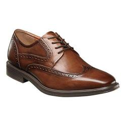 Men's Florsheim Heights Wingtip Oxford Cognac Smooth Leather