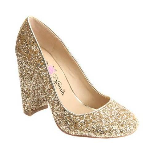 e051d35260d Women's Penny Loves Kenny Ritz Glitter Pump Gold Glitter Fabric