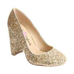 Women's Penny Loves Kenny Ritz Glitter Pump Gold Glitter Fabric