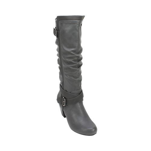1a1a2fb46d5 Women's Rialto Crystal Knee High Boot Grey Smooth/Synthetic