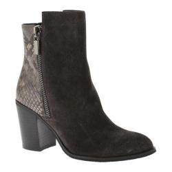 Women's Kenneth Cole New York Ingrid Ankle Boot Grey Suede/Multi Embossed Leather