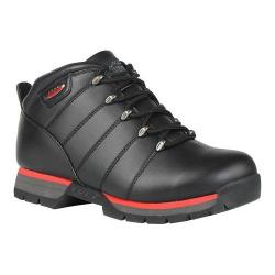 Men's Lugz Jam III Ankle Boot Black/Mars Red/Charcoal Perma Hide