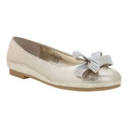 Girls' Nina Stazie Ballet Flat Platino Crackle