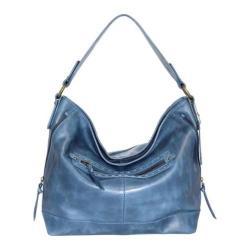 Women's Nino Bossi Magnolia Bloom Shoulder Bag Washed Blue