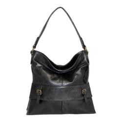 Women's Nino Bossi Orchid Bud Shoulder Bag Black