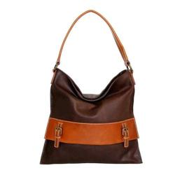Women's Nino Bossi Orchid Petal Shoulder Bag Chocolate