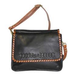 Women's Nino Bossi Peony Petal Cross Body Bag Black