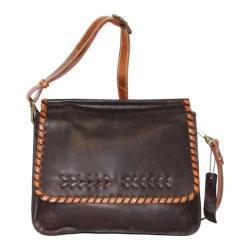 Women's Nino Bossi Peony Petal Cross Body Bag Chocolate