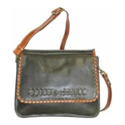 Women's Nino Bossi Peony Petal Cross Body Bag Pine