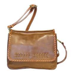 Women's Nino Bossi Peony Petal Cross Body Bag Saddle