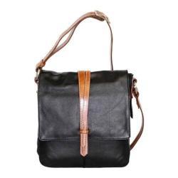 Women's Nino Bossi Tulip Bud Cross Body Bag Black