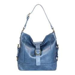 Women's Nino Bossi Violet Petal Shoulder Bag Washed Blue