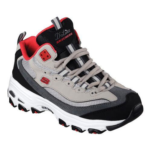 2baf589d52ed Shop Women s Skechers D Lites D Liteful Lace Up Shoe Gray Red - Free  Shipping Today - Overstock - 12973584