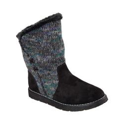 Women's Skechers BOBS Alpine Winter Warrior Sweater Boot Black