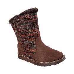 Women's Skechers BOBS Alpine Winter Warrior Sweater Boot Chocolate