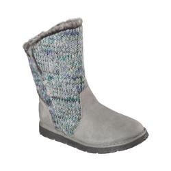 Women's Skechers BOBS Alpine Winter Warrior Sweater Boot Gray