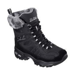 Women's Skechers D'Lites Chalet Lace Up Boot Black