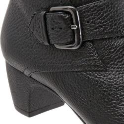 Women's SoftWalk Imlay Short Bootie Black Veg Tumbled Leather