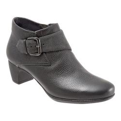 Women's SoftWalk Imlay Short Bootie Dark Grey Tumbled Leather/Cow Suede