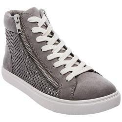 Women's Steve Madden Elyka High Top Sneaker Grey Multi Microsuede