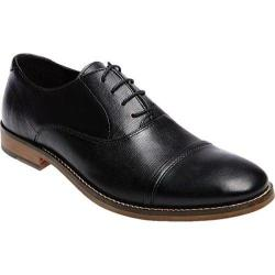 Men's Steve Madden Finnch Cap Toe Shoe Black Leather
