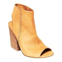 Women's Steve Madden Mingle1 Open-Toe Bootie Tan Nubuck
