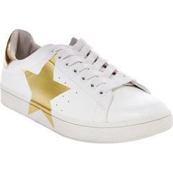 Women's Steve Madden Rayner Sneaker White/Gold Synthetic