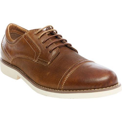 26a36c92e2d Men's Steve Madden Transmit Cap Toe Oxford Dark Tan Leather