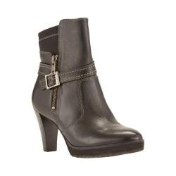 Women's Walking Cradles Tacoma Bootie Black Cashmere Leather/Stretch