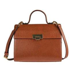 Women's Lodis Stephanie Under Lock & Key Bree Medium Crossbody Chestnut