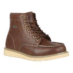 Men's Lugz Roamer HI Chukka Boot Dark Brown/Gum/Cream Perma Hide