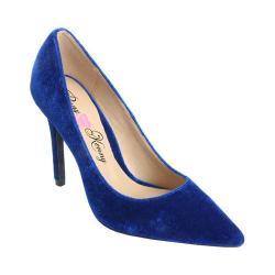 Women's Penny Loves Kenny Main Stiletto Pump Blue Velvet