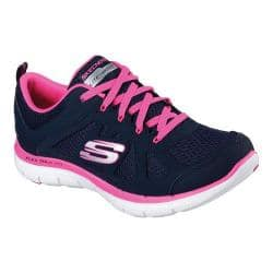 Women's Skechers Flex Appeal 2.0 Simplistic Training Shoe Navy/Hot Pink|https://ak1.ostkcdn.com/images/products/129/43/P19681296.jpg?impolicy=medium