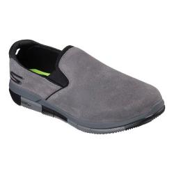 Men's Skechers GO FLEX Walk Comrade Slip On Walking Shoe Charcoal/Black