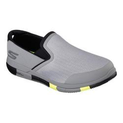 Men's Skechers GO FLEX Walk Slip On Walking Shoe Light Gray/Lime