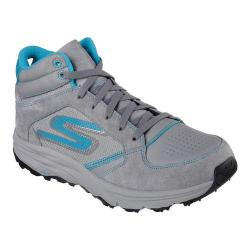 Women's Skechers GOtrail Odyssey High Top Running Shoe Charcoal/Turquoise