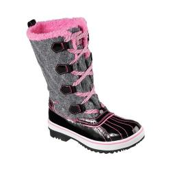 Girls' Skechers Highlanders Quilt N Cute Cold Weather Boot Black/Hot Pink