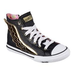 Women's Skechers OG 70 Utopia Wing It High Top Sneaker Black/Gold