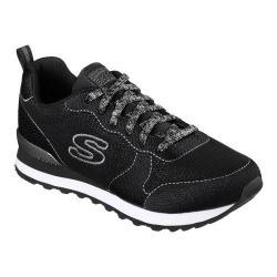 Women's Skechers OG 85 Shimmer Time Sneaker Black