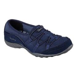 Women's Skechers Relaxed Fit Breathe Easy Blithe Bungee Lace Shoe Navy