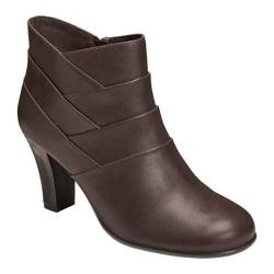 Women's A2 by Aerosoles Best Role Bootie Brown Faux Leather